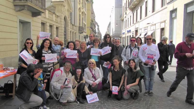 18 aprile 2015  – Stop TTIP – Flashmob a Torino
