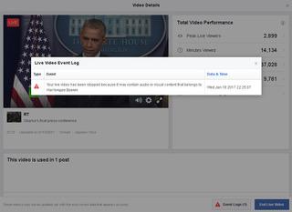 PTV news 19.1.2017 –  Facebook impedisce a RT di seguire l'insediamento di Trump alla Casa Bianca