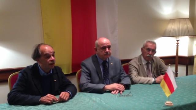 Il ministro degli Esteri dell'Ossezia del Sud, Dmitrij Farnawaz Medoiti, in visita a Roma
