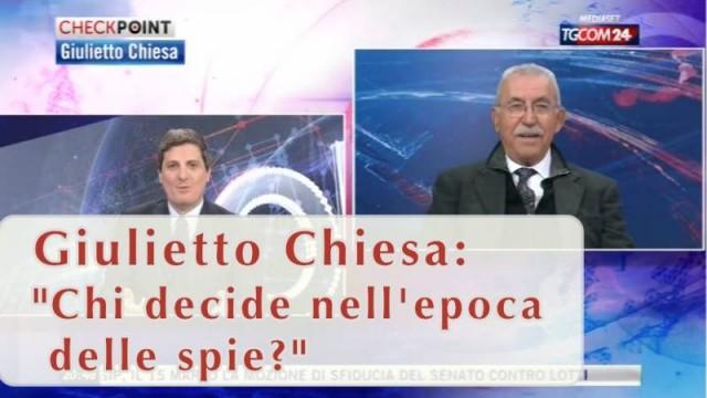 """Giulietto Chiesa: """"Chi decide nell'epoca delle spie?"""""""