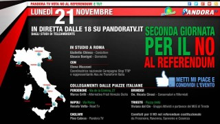 21 Novembre Ore 18 [ Live ] Seconda Giornata No Referendum