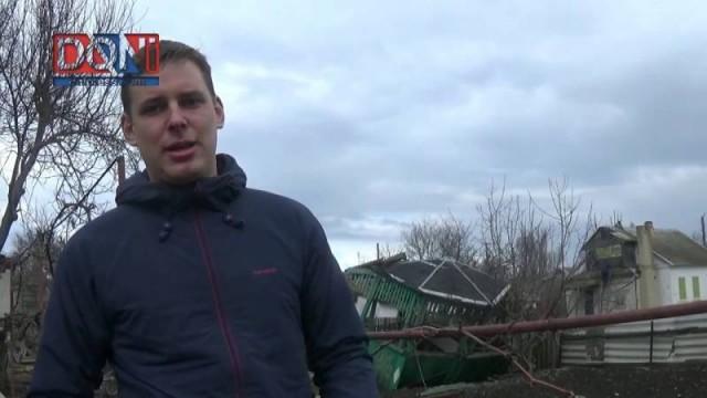Bombe ucraine su un villaggio della DNR ad oltre 10 km dal fronte 21.03.2017