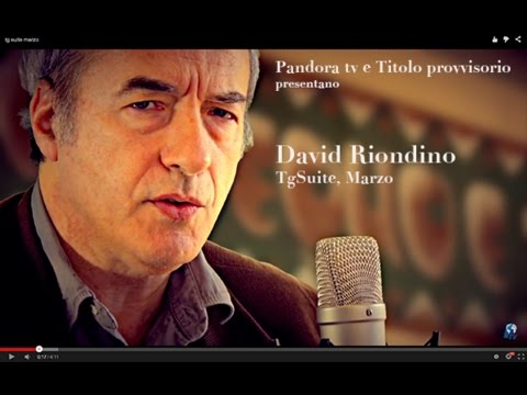 David Riondino – Tg suite, marzo