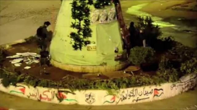 Distruzione dell'albero di Natale nella Gerusalemme occupata