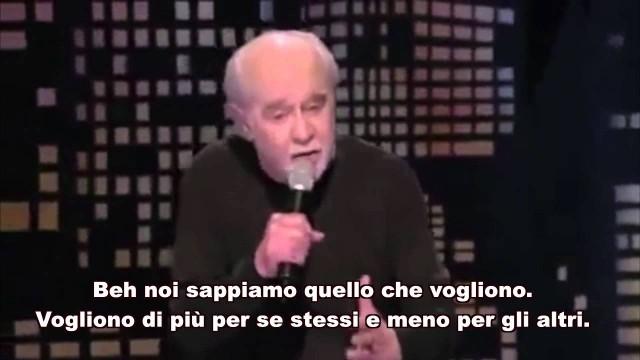 """George Carlin: """"Le cose che sappiamo di loro, ma gliele lasciamo fare."""""""
