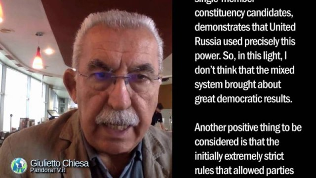 Giulietto Chiesa – Commentary: Election in Moscow. Stability but problems.