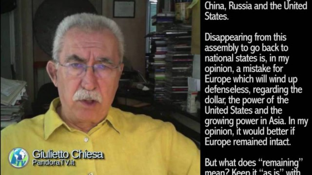 "Giulietto Chiesa: Commentary – ""Now they're shutting the doors in Brussels"""