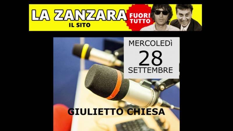 Giulietto Chiesa in onda a 'La Zanzara'