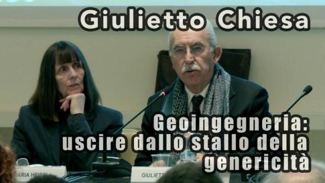 """Giulietto Chiesa – """"Geoingegneria: uscire dallo stallo della genericità."""""""