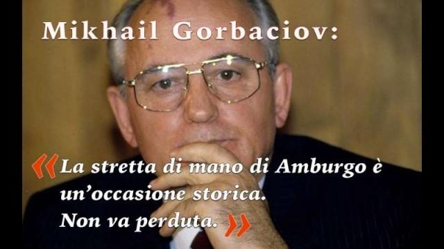 "Gorbachev: ""The Putin-Trump handshake in Hamburg  is a historic opportunity"""