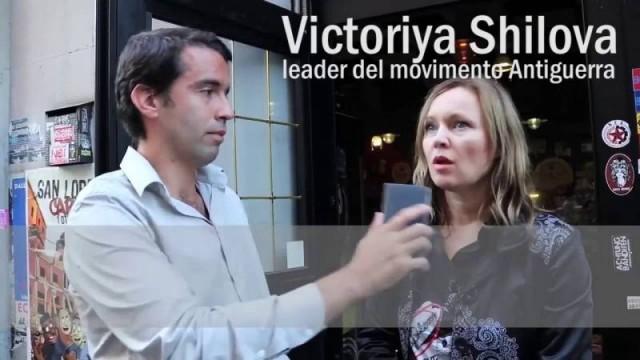 """ I bambini del Donbass"" Victoriya Shilova a Roma"