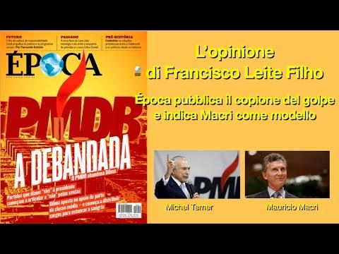 La rivista Época fornisce il copione per il golpe in Brasile