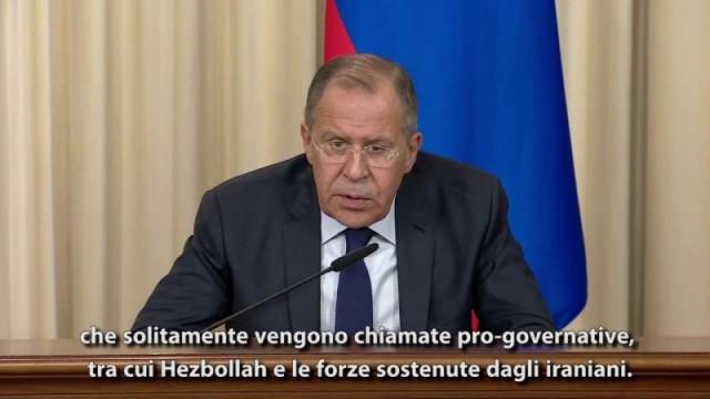 """Lavrov: """"Perché gli USA non colpiscono Al-Nusra?"""""""