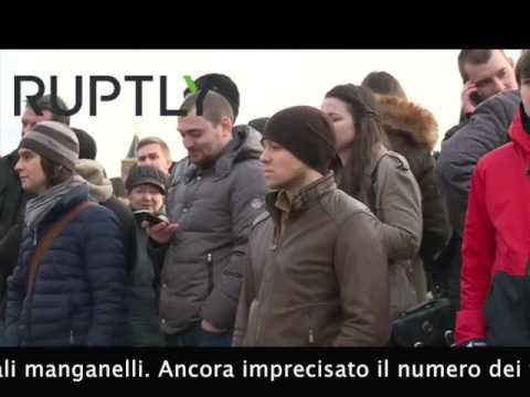 Manifestazione di protesta, non autorizzata, a Mosca. Promotore il leader dell'opposizione Aleksei Navalnij