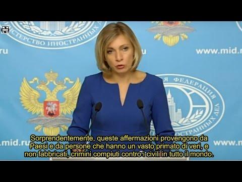 Maria Zakharova sulla campagna informativa anti-russa per la crisi Siriana