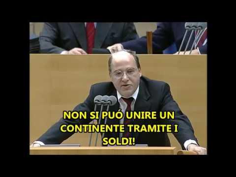 """""""NON SI PUÓ UNIRE UN CONTINENTE TRAMITE I SOLDI"""" -Le Profezie del dott. Gregor Gysi- (sott ITA)"""