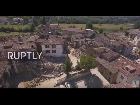Pandora TV Diretta Il terremoto visto dal drone