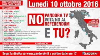 "Live 10 Ottobre: ""PandoraTV vota no al Referendum e Tu?"""