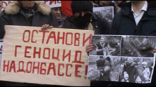 Stop al genocidio in Donbass